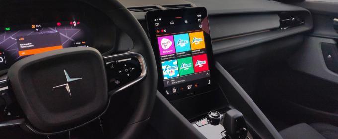 Radioplayer Android Automotive y Polestar