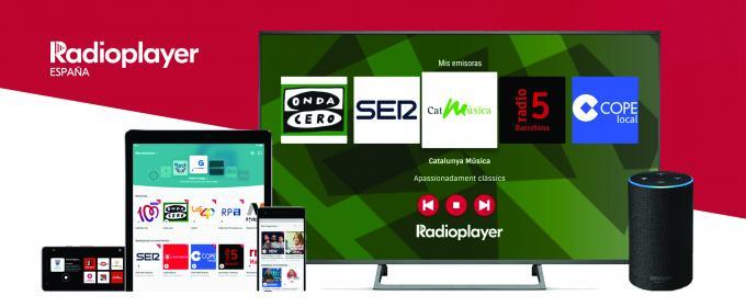 Radioplayer España en movil, television y alexa